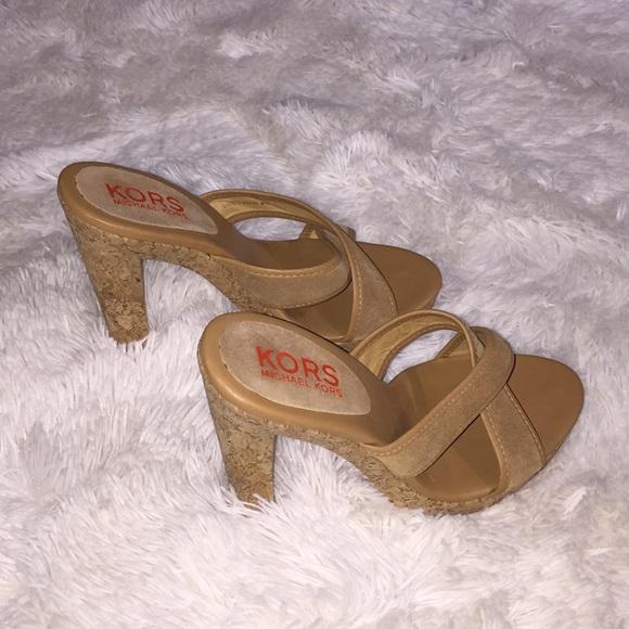 Michael Kors Shoes | Euc Suede And Cork